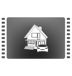 house concept icon vector image vector image