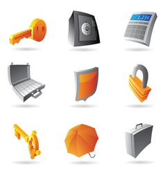 Icons for banking vector image vector image