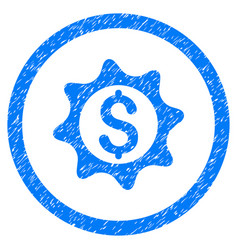 Money seal rounded grainy icon vector