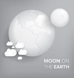 Moon on the earth vector