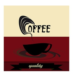Retro vintage coffee vector image