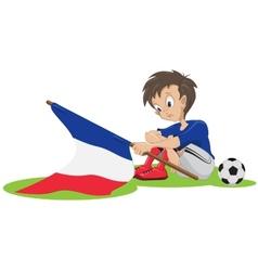 Sad france soccer fan vector