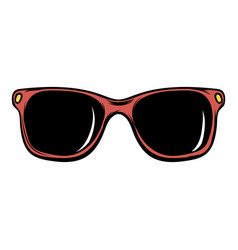 sunglasses icon cartoon vector image