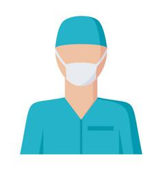 surgeon icon vector image vector image