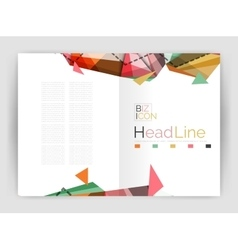 Unusual abstract corporate business brochure vector