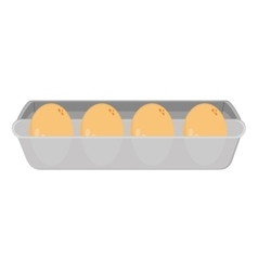 Eggs carton icon vector
