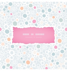 Colorful bubbles frame seamless pattern background vector