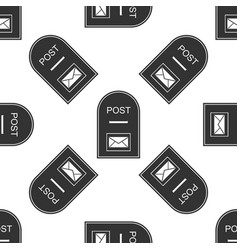 Mail box icon post box icon seamless pattern on vector