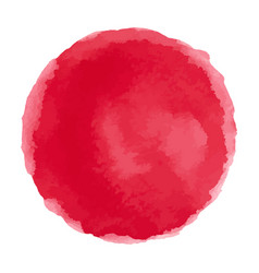 bright red watercolor painted stain vector image