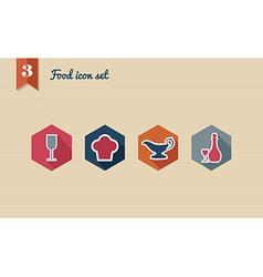 Menu food flat icon set vector