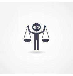 Justice icon vector