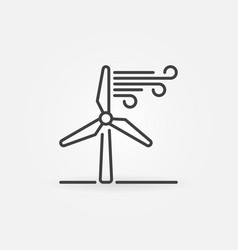 Wind energy linear icon vector