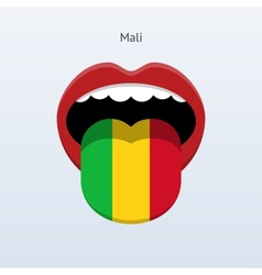 Mali language abstract human tongue vector