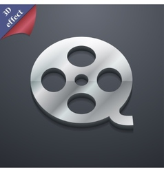 Video icon symbol 3d style trendy modern design vector