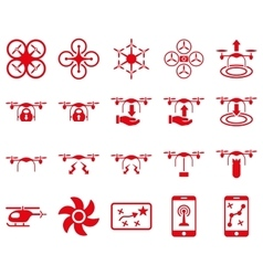 Air drone and quadcopter tool icons vector