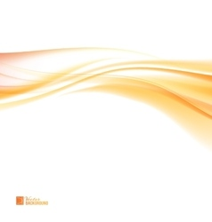 Abstract orange wind vector image