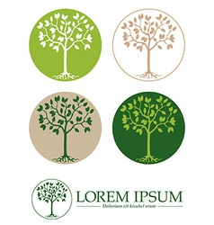 Tree symbols template vector