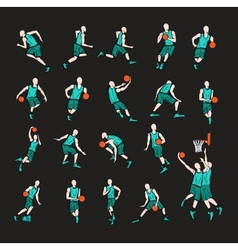 Sport players vector