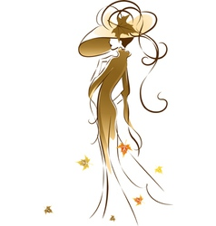 Autumn lady vector