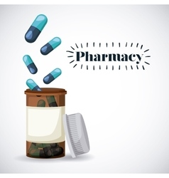 Pharmacy store design vector
