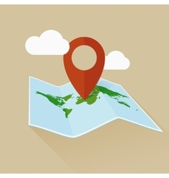 Location flat icon travel map and pin vector