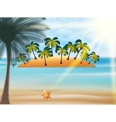 Beautiful Seaside View Poster vector image vector image