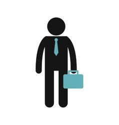 Candidate looking for a job icon flat style vector