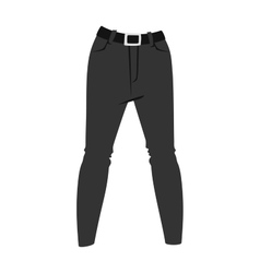 Cartoon jeans trousers details silhouettes vector