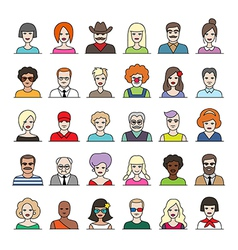 characters part1 vector image vector image