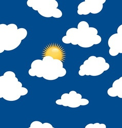 clouds pattern3 vector image