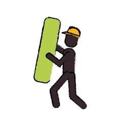 Construction man element work drawing vector