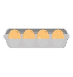 Eggs carton icon vector
