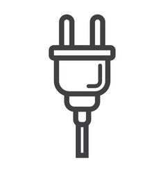 Electric plug line icon power and appliance vector