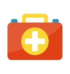 first aid kit box medical vector image vector image