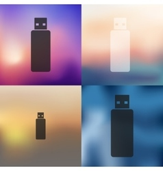 Flash icon on blurred background vector