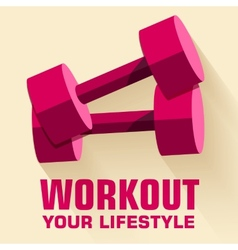 Flat sport workout icon background concept vector