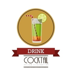 fresh cocktail design vector image