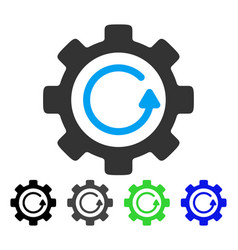 Gear rotation direction flat icon vector