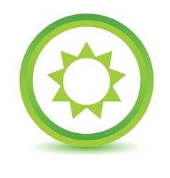 Green sun icon vector