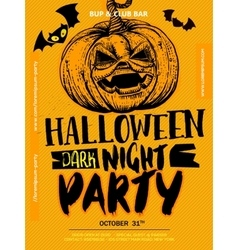 Halloween Boo poster vector image vector image