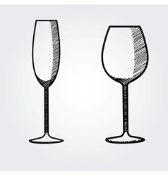 hand drawn wine collection vector image