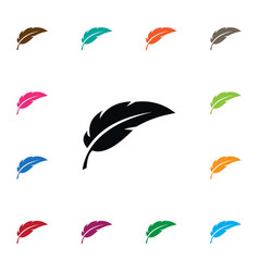Isolated feather icon pen element can be vector