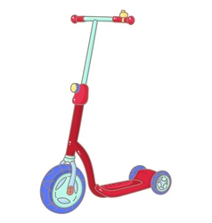 Kick scooter vector