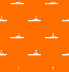 Military warship pattern seamless vector