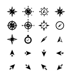 Navigation Compass Icon vector image vector image