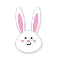 Nice face of happy rabbit animal vector