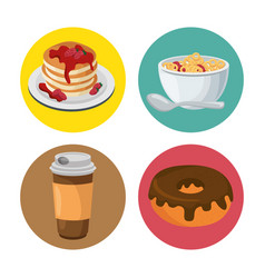 Nutritive food menu icon vector