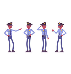 policeman satisfied and rewarded with job vector image vector image