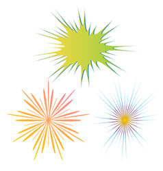 radial backgrounds vector image vector image