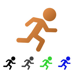running child flat gradient icon vector image